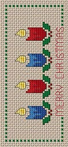 Christmas Bookmark cross stitch pattern, You can produce very particular styles for materials with cross stitch. Cross stitch models may very nearly amaze you. Cross stitch beginners may make the models they desire without difficulty. Xmas Cross Stitch, Cross Stitch Bookmarks, Cross Stitch Cards, Counted Cross Stitch Patterns, Cross Stitch Designs, Cross Stitching, Cross Stitch Embroidery, Free Cross Stitch Charts, Christmas Embroidery Patterns