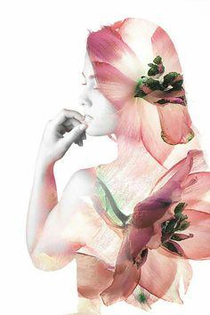 Double exposure photography #edit #photoshop #flowers #portrait