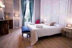 Hotel Violeta Boutique in Barcelona Couple Room, Barcelona Hotels, Cozy Room, Hostel, Boutique, Bed, Furniture, Home Decor, Beautiful