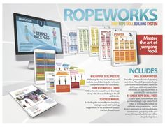 Ropeworks Jump Rope Skill Builders System - Conference Special Through April 2015 Building Systems, Step By Step Instructions, How To Draw Hands, Teaching, Activities, Education, April 10, Conference, Hand Reference