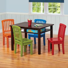 Children's Game Table with 4 chairs