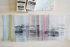 Tuto mini album pochettes transparentes tampons bois