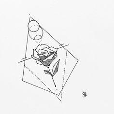 #illustration #illustrator #design #sketch #draw #drawing #ink #pen #flower #rose #botanical #geometry #geometric #tattoo #tattoodesign #linework #dotwork #art #artwork #artist #instaart #artistic #kunst #madeinbelgium #blackwork #blackworkers #instafollow #evasvartur