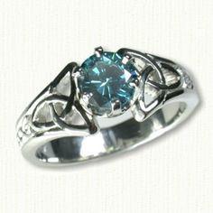 Marishelle Celtic Gemstone Rings - custom celtic rings w/ gemstones, diamonds @ best prices!