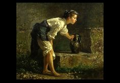 """""""Young Neapolitan Girl at the Fountain"""" (1871), Filippo Palizzi"""