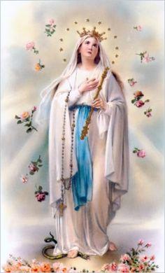 Virgen de la Merced o Nuestra Señora de las Mercedes -  Virgen de la Misericordia. Festividad 24 de Septiembre.