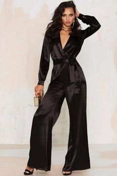 After Party by Nasty Gal Love the Nightlife Plunging Jumpsuit - Rompers + Jumpsuits   After Party
