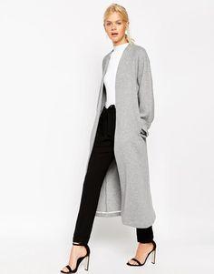 ASOS | ASOS Textured Jersey Maxi Jacket at ASOS