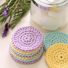 With this quick and easy pattern for reusable crochet face scrubbies