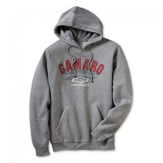 Camaro Collegiate Hoodie - Heather Gray  With its raw seam edges, pouch pocket and proud old school logo, you'll turn tradition on its head in a masculine way. Tapered for a smooth fit, warm and comfortable. 55% cotton/45% polyester. Imported.  SKU: SE2-MF636