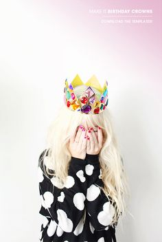 DIY Jewel Crown // via designlovefest