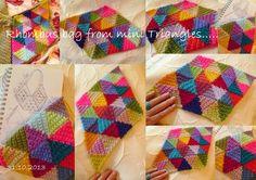 Suz Place: Design for Mini Triangle, Rhombus Bag Tutorial  ༺✿Teresa Restegui http://www.pinterest.com/teretegui/✿༻