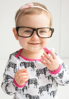 Baby T-Shirt-Zebras Wearing Glasses-Baby by PaisleyandPeppermint
