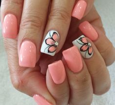 Nail art is one of many ways to boost your style. Try something different for each of your nails will surprise you. You do not have to use acrylic nail designs to have nail art on them. Here are several nail art ideas you need in spring! Cute Summer Nail Designs, Cute Summer Nails, Nail Designs Spring, Nail Art Designs, Nail Summer, Pedicure Designs, Summer Shellac Nails, Speing Nails, Summer Toenails