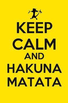 Keep Calm And Hakuna Matata (Lion King). $8.90, via Etsy.