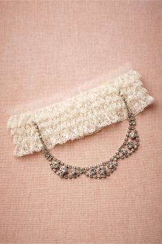 Tethered Tiara Garter in Bride Bridal Accessories at BHLDN