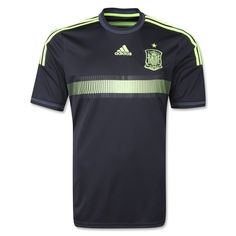 According to adidas: The complete uniform that will help the team shine puts together both, the totally red contrasted with the golden three stripes home equipment (introduced during last November) and the new away equipment, that unites black and electricity, a never used before color combination.