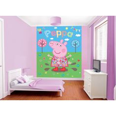 peppa pig mural bedroom preciouslittleone walltastic wall painting scene