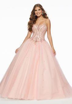 c702b8d8fbb83 Crystal Beaded Tulle. Plus Size Prom DressesProm ...