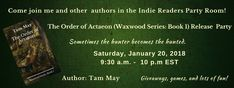 My release party for The Order of Actaeon is scheduled in the Indie Readers Party Room for next month! All the details below :-). Hope you'll all join me!