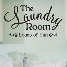 Laundry room decor . Love for a door sign