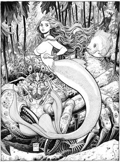 Arthur Adams - The Little Mermaid, done for Sketchbook X, 2011