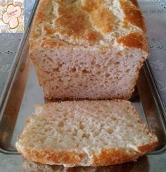 Cozinhando sem Glúten: Pão com farinha de arroz integral - livre de glúten e leite