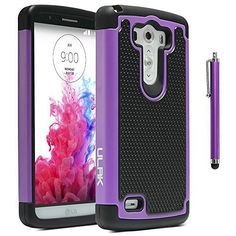 LG G3 Case, ULAK Dual Layer Rugged Heavy Duty Impact Hard Hybrid Case Cover for LG G3, Aero Armor Protective Case for G3 with Screen Protector + Stylus (Purple), http://www.amazon.com/dp/B00O0KRB9O/ref=cm_sw_r_pi_awdm_eJEHub0FFMV1R