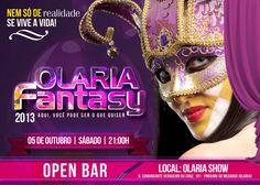 Flyer post Olaria Fantasy Criação: www.mwcreator.com.br  Comunicação e design