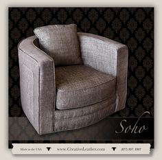 For three decades, Creative Leather has been committed to handcrafting the finest quality custom leather furniture in the Southwest. Leather Furniture, Custom Furniture, Decor Interior Design, Interior Decorating, Curved Lines, Barrel Chair, Transitional Decor, Chair And Ottoman, Soho
