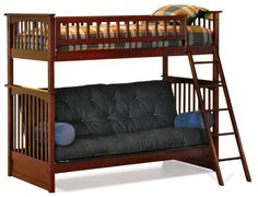 Queen Loft Bed With Futon - Furniture Kit Picture