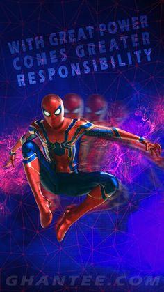 spiderman phone wallpaper - endgame wallpaper for mobile Marvel Phone Wallpaper, Hd Wallpaper Iphone, Mobile Wallpaper, Wallpapers, Iron Spider, Spiderman Art, Great Power, Marvel Art, Tom Holland
