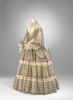 Day dress ca. 1855 From the National Gallery of Victoria