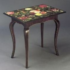decoupage with victorian flowers