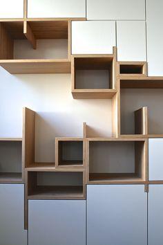 Product/Storage design by Filip Janssens Built In Furniture, Diy Furniture, Furniture Design, Furniture Plans, Regal Design, Shelf Design, Storage Design, Wall Shelves, Shop Shelving