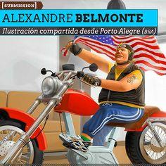Ilustración. Ergometric Harley de ALEXANDRE BELMONTE  Ilustración compartida desde Porto Alegre (BRASIL).    Leer más: http://www.colectivobicicleta.com/2012/12/ilustracion-de-albelmonte.html#ixzz2E0CDHnSi