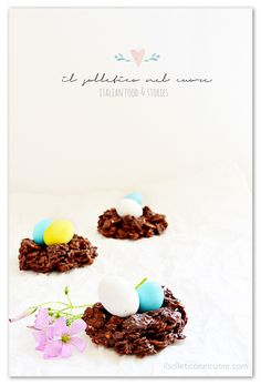 chocolate easter egg nests Easter Recipes, Dessert Recipes, Desserts, Muesli, Chocolate Cookies, Easter Eggs, Nests, Food Porn, Easy Meals