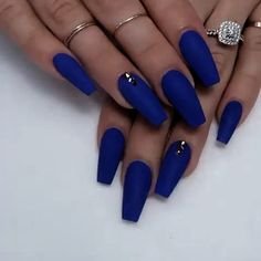 Blue Acrylic Nails That You Must Love To Try - Nail Art Ideas 2020 (Latest Nail Polish And Gel Nail Designs For Beautiful Girls Pink Nail Colors, Purple Acrylic Nails, Coffin Nails Matte, Summer Acrylic Nails, Gel Nails, Glitter Nails, Colorful Nail, Polish Nails, Gorgeous Nails
