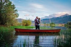 Engagement Shoot on a lake in a canoe | Lakeside Mountain Engagement | COUTUREcolorado WEDDING: colorado wedding blog + resource guide