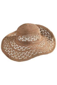 Amaya Nougat Raffia Hat