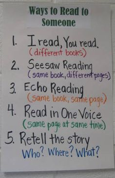 read to self vs read to someone anchor chart Daily 5 Reading, Partner Reading, First Grade Reading, Reading Lessons, Reading Skills, Guided Reading, Reading Groups, Reading Resources, Reading Activities