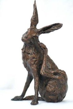 bronze 'Scratching Hare' by Kate Denton // another wonderful rabbit for the garden !!