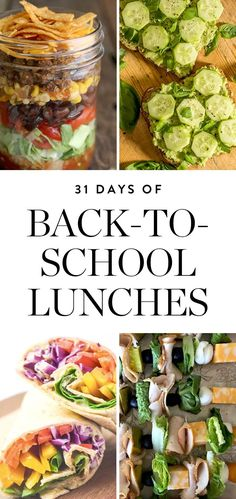 We put together an epic list of low-maintenance options to get you through an entire month of back to school lunches for your kids.