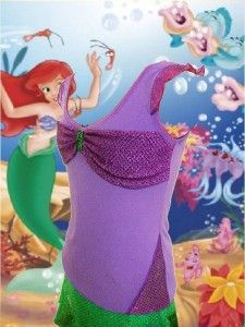 Cute idea for Ariel running costume for when I one day do the Princess Half Marthon