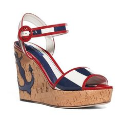 18b7d63798b37 Women s Dolce amp gabbana Nautical Wedge Sandal (1
