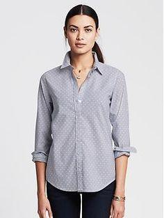 Banana Republic - Soft-Wash Dot Stripe Shirt