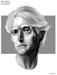 Plague symptoms for uni project - 30/9/21 Video Game Artist, Halloween Face Makeup, Concept, Statue, Uni, Sculptures, Sculpture