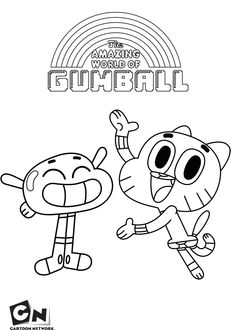 gumball and anais the amazing world of gumball coloring pages for kids
