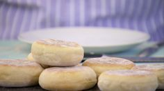 This English Muffins recipe appears as one of the technical challenges in the Cakes episode of Season 2 of The Great British Baking Show.