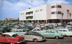 1950s mall (look at all those cars!) Lakewood Center, Los Angeles